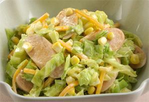 上沼恵美子のおしゃべりクッキング レシピ 作り方 サラダ 魚肉ソーセージのホットサラダ