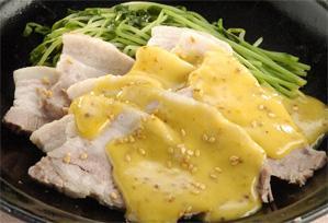 上沼恵美子のおしゃべりクッキング レシピ 作り方 ゆで豚のからし味噌