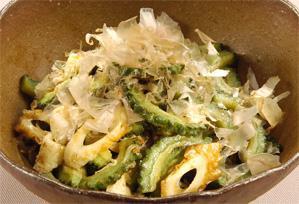 上沼恵美子のおしゃべりクッキング レシピ 作り方 簡単スピードメニュー ゴーヤとちくわの梅おかか