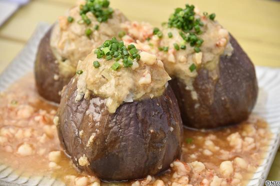 青空レストラン レシピ 作り方 新潟 越の丸茄子 蒸しナスの肉詰め