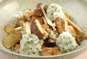 上沼恵美子のおしゃべりクッキング レシピ 作り方 きのこと鶏のすだち風味