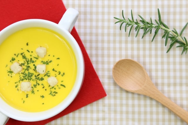 スッキリ レシピ 魔法の美腸スープ 美腸ポタージュ Atsushi 冷え性 乾燥肌 ダイエット 痩せる