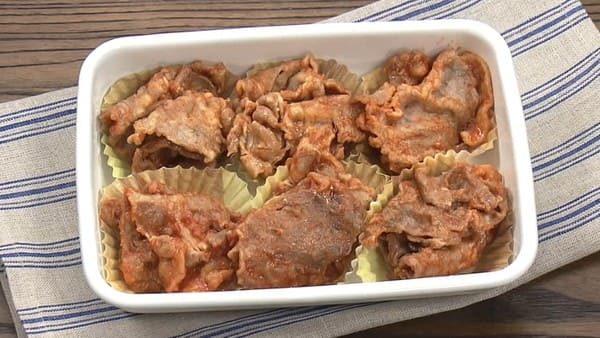 きょうの料理 レシピ ゆーママ 作り置き 冷凍お弁当 豚肉の甘辛焼き