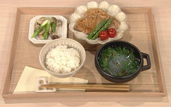 きょうの料理 レシピ ゆーママ 豚肉の甘酢炒め定食