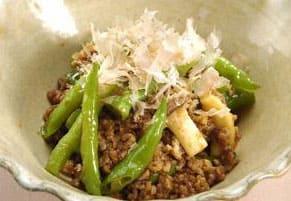 甘長と豚肉のおかか和え 上沼恵美子のおしゃべりクッキング レシピ 作り方 簡単スピードメニュー