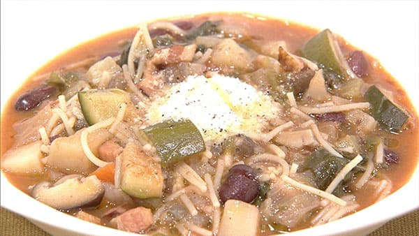 あさイチ 作り方 材料 レシピ 3シェフ競演 具沢山スープ イタリアン落合シェフ