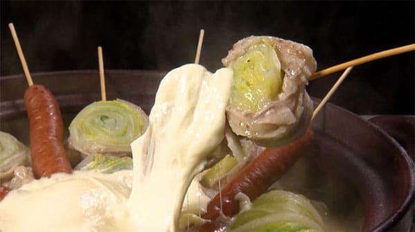 鉄腕DASH 鉄腕ダッシュ レシピ 出張DASH村 白菜 バラエティ鍋 モッツァレラチーズ