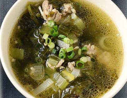 男子ごはん 白いごはんに合う 太一本気レシピ 中華スープ 高菜スープ