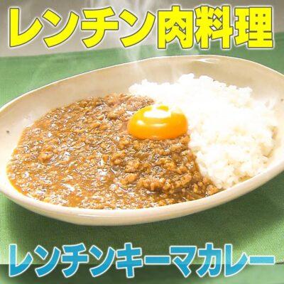 家事ヤロウ レンチン肉料理 北川景子 レンチンキーマカレー
