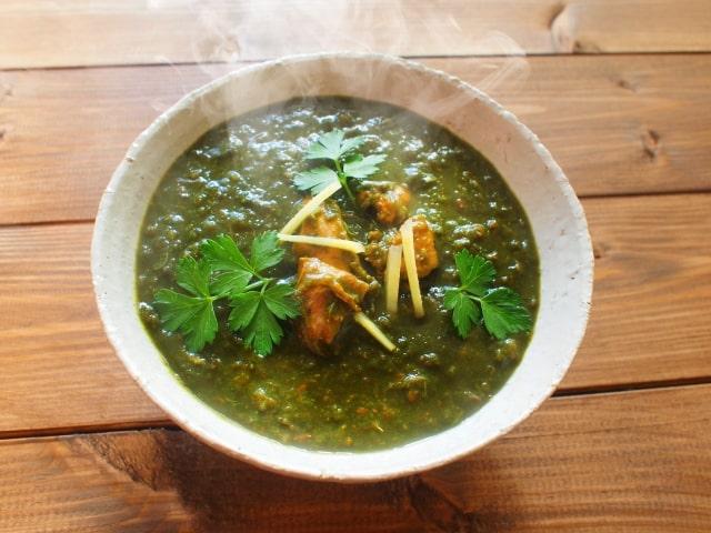 所さんの目がテン スパイスカレーの素 グレイビー 印度カリー子 タクコ レシピ 作り方 ほうれん草 なめこ
