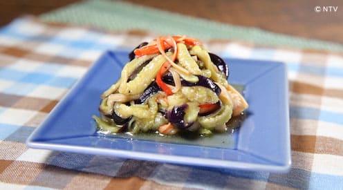 ヒルナンデス 料理研究家リュウジ バズレシピ 作り方 夏の食材 居酒屋レシピ トロトロなすのオリーブオイルマリネ