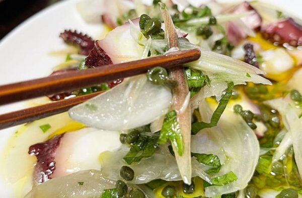 若摘み実山椒 ぴりはりま 山椒カルパッチョ タコのカルパッチョ